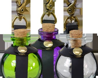 Small Potion Bottle with Clasp - 5 Colors Available