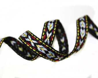 2 YARDS Aztec Ethnic Knitted Ribbon Trim for Fashion Crafts