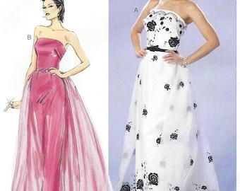 Muster von Gertie Womens trägerlosen Kleid, abnehmbare Zug Butt Nähen Muster B6353 BP288 Größe 14-16-18-20-22 Büste 36 bis 44 ungeschnitten