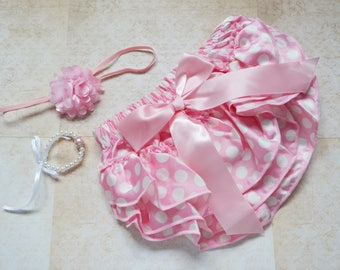 satin pants - diaper cover - photo props