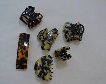 Set of clips and barrette Devisage Paris & Swarovski jewelry