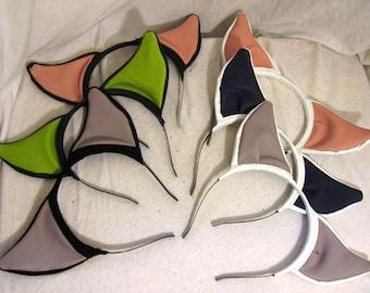 Steel Headband Leather Cat Ears