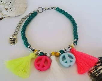 Ankle bracelet peace