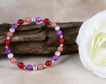 Scorpio Women's Astrology/Zodiac Bracelet, Silver Beads