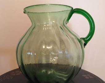 Vintage Pitcher Applied Handle One Gallon.