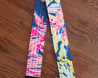 CAMERA STRAP in Lilly Pulitzer Navy Sunken Treasures
