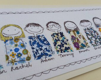 Personalised Family Portrait designed and handmade especially for you by Justsosara