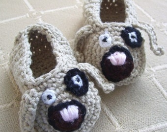 Download Now - CROCHET PATTERN Puppy Love Baby Shoes - Pattern PDF