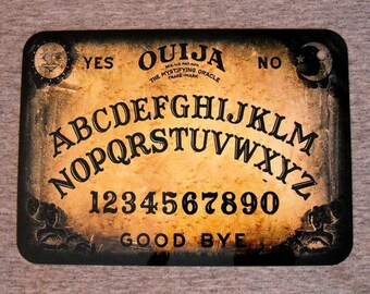 Metal Sign OUIJA board spirit talking demonic mystifying oracle hello goodbye paranormal supernatural game dead wall plaque