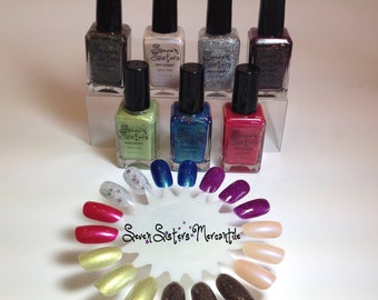 The Pleiades Collection - Seven Sisters Nail Lacquer - All Seven Nail Polish Colours - 7, 15 mL 0.5 Fl Oz. Bottles