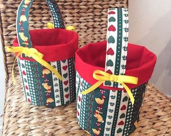 Easter Egg Baskets, Bunny & Chick, Circular, Quality Hand Made