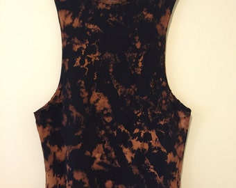 Bleach Dye Tank Top Size Small