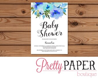 Baby Shower Invitation - Digital or Printed
