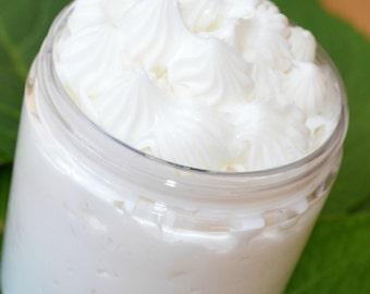 Sweet Pea Body Butter, Cocoa  Shea Butter Balm,  Organic Lotion,  Vegan Cream, Facial Moisturizer, 8 Ounces, Stocking Stuffer, Floral Gift