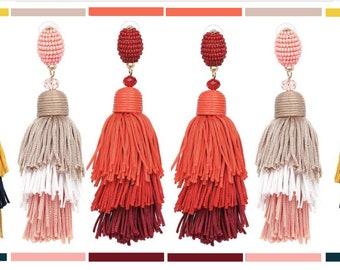 Mali Earrings (Red)