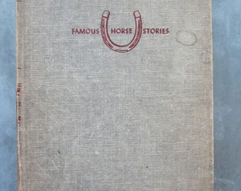 Vintage 1952 Book Famous Horse Stories Black Tiger by Thomas C. Hinkle