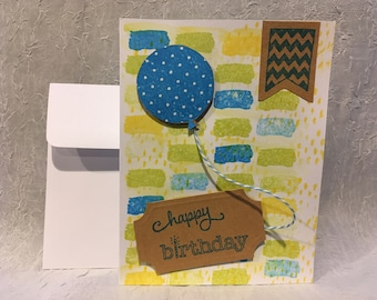 Happy Birthday Balloon Handmade Card