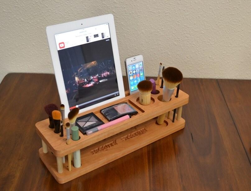 Makeup Organizer Imakeup Station Iphone Dock Make Up