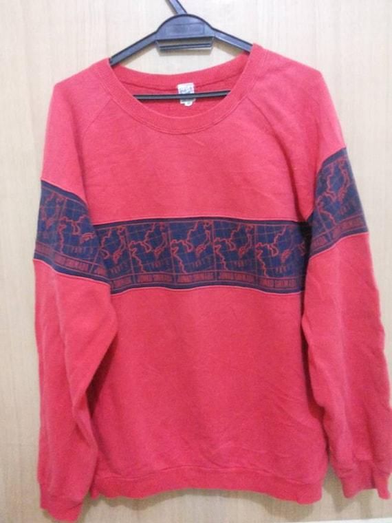 Vintage 90's Junko Shimada Blue Heather Sweatshirt Medium Size Jumper Pullover Shirt Jacket 90qb6