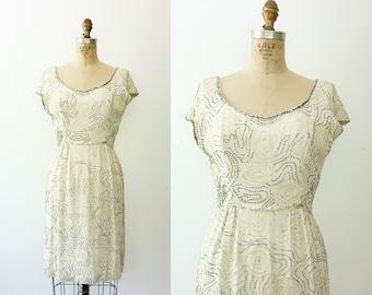 beaded cocktail dress / beaded silk dress / Rosa-grapha dress