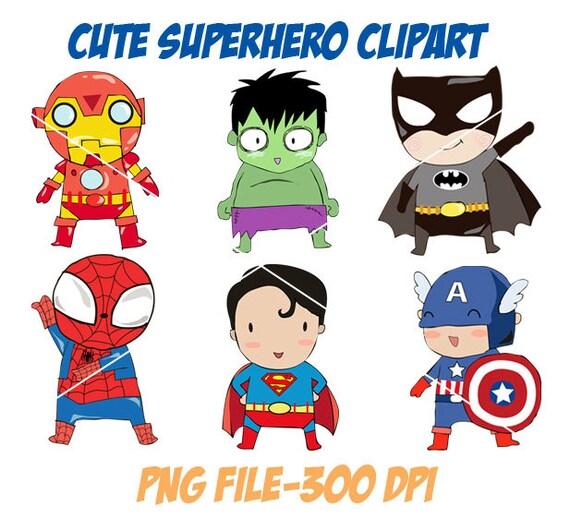 Cute Superhero Clipart Png File 300 Dpi
