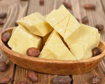 Cocoa Butter 100% Pure Organic Cold Pressed Unrefined Cocoa Butter 4 oz,8oz or 1lb