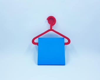 Sticky Note Clothes Hanger Holder -   3D Printed - Sticky Pad Holder - Sticky Note Holder - Office supplies - Fathers Day Gift