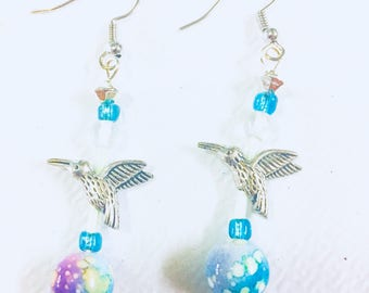 Hummingbird Flutter Earrings