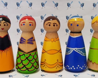 Wooden Peg Dolls - Disney Peg Dolls & Sets