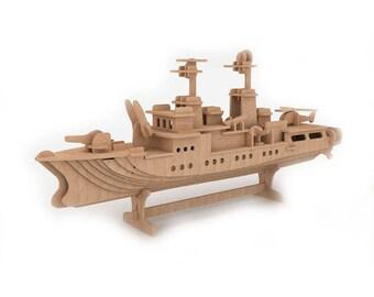 Destroyer 3D wooden puzzle/model