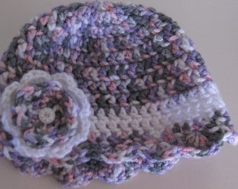 Infant beanie and Mary Jane booties