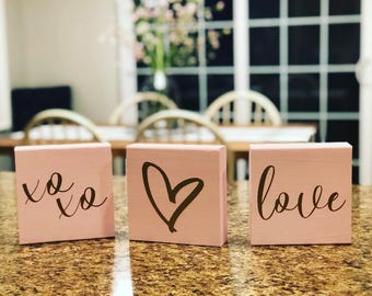 Valentine's Day Blocks || Love || xoxo || <3