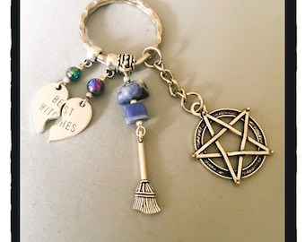 Best Witches and Pentagram Keyring