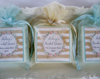 Shower Favors, Bridal Shower, Baby Shower, Soap Favors, wreath party favors set of 10