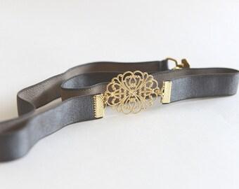 Bridal Belt, Gold Belt, Grey Belt, Wedding belt, Bridesmaids Belt, Wedding Accessories, waist belt, Skinny Belt, Wedding Dress Belt,