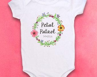 Petal Patrol, Flower Girl, Flower girl gift, Cute Baby clothes, Baby bodysuit, Kids Clothes, Wedding, Petal Patrol shirt, Flowers