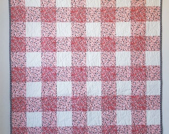 Picnic in Charleston - gingham baby quilt