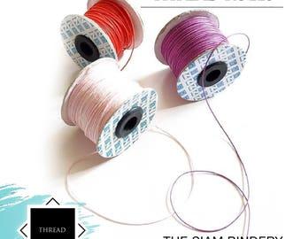 Bookbinding thread - 100 yards per roll
