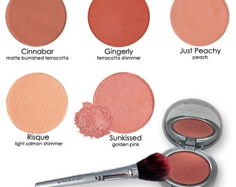 Mineral Powder Pressed Blush warm colors, 100% natural