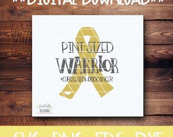 Cancer, Cancer Awareness, Childhood Cancer, SVG, PNG, EPS, dxf, Pint-Sized Warrior,