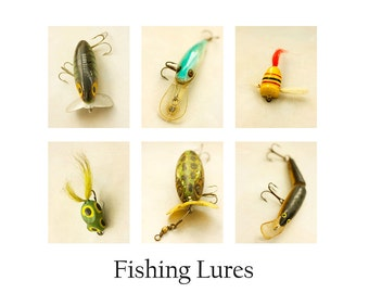 Father's Day Fishing Gift, Fishing Lures Print,  8 x 10 Fishing Art for Men, Man Cave, Fishing Gift, Gift for Father, Gift for Husband