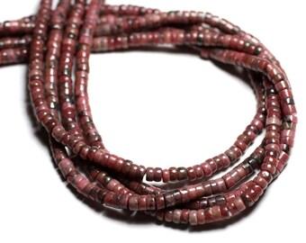 20pc - stone - Rhodonite Rondelle 4x2mm - 4558550081919 beads
