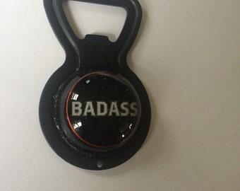 Badass upcycled bottle opener, beer, michigan beer, kid rock, craft beer