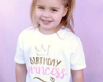 Girls Birthday Shirt - Birthday Girl Top - Birthday Outfit - Birthday Princess - Party Outfit - Princess Shirt