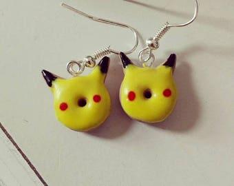 Pikachu donut earrings