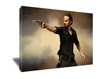 FREE SHIPPING Walking Dead's Hero Rick Grimes Canvas Art