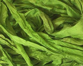 SARI SILK RIBBON - Grass