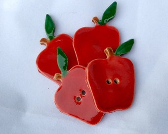 Ceramic Buttons - Apple Buttons