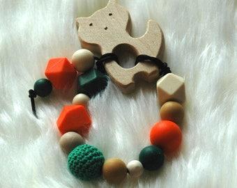 Fox Wooden Teether