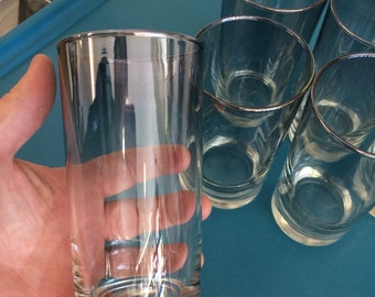 Vintage Set of 6 Dorothy Thorpe Ombre Medium Silver Glass Tumblers